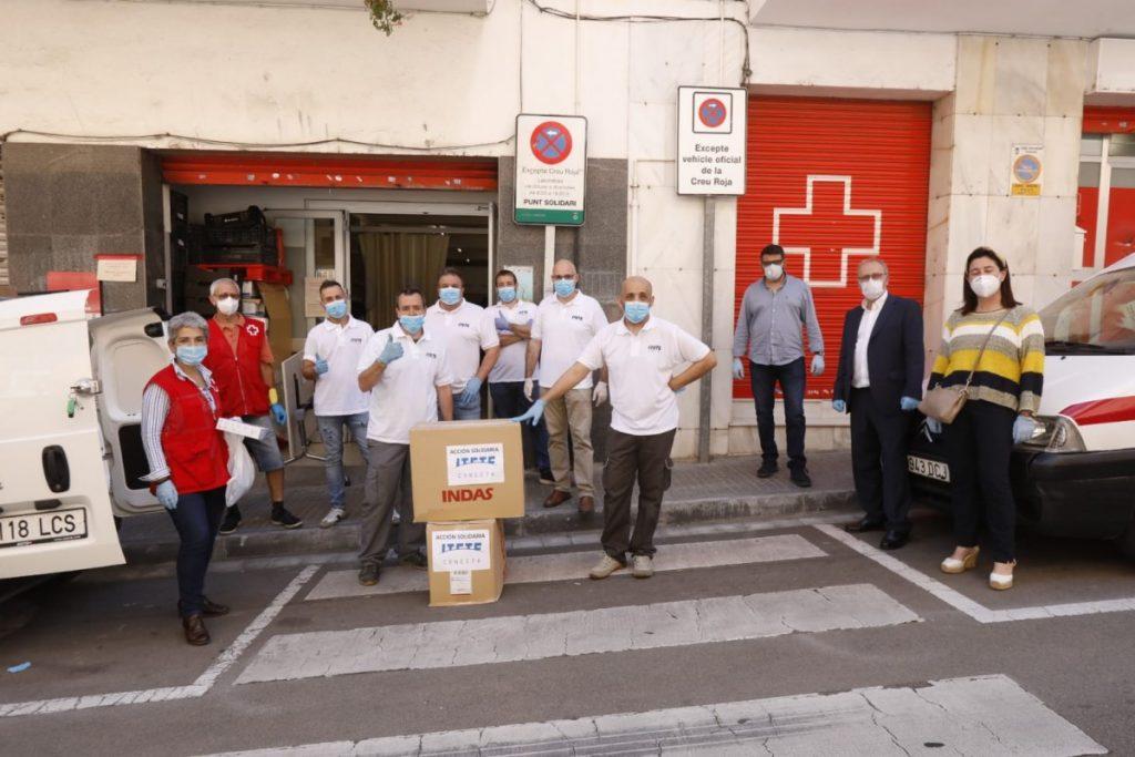 Cruz Roja, responsables de Itete y Ayuntamiento de Viladecans