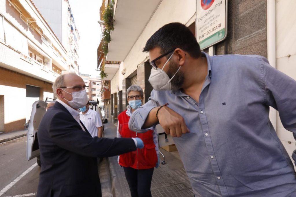 Juan Carlos Pérez, coordinador de Itete Conecta, y Anselmo Sánchez, teniente alcalde de Seguridad y Convivencia