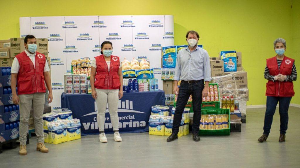 El Centro Comercial Vilamarina dona 3 toneladas de alimentos y productos de primera necesidad a Cruz Roja