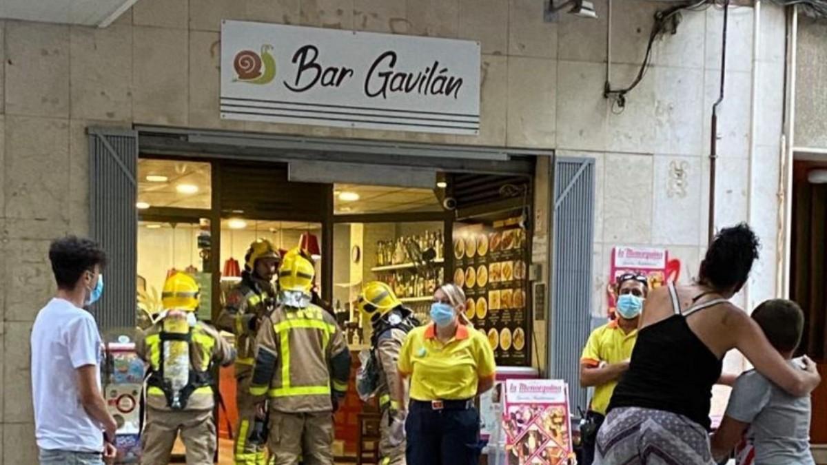 Accidente de fuego en el Bar Gavilán de Viladecans