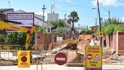 Empieza la transformación de las calles de Alba-rosa, noticias viladecans, viladecans noticias