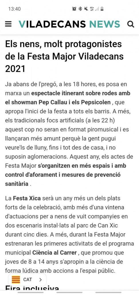 Viladecans news en català, viladecans news, viladecans, català,